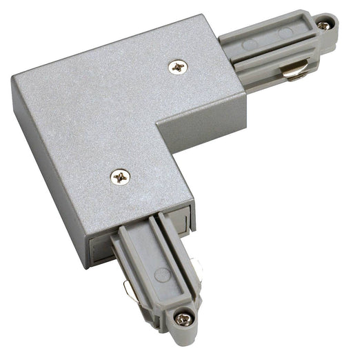 SLV 143062 Corner connector for 1-Circuit track, surface-mounted, silver-grey, inner earth