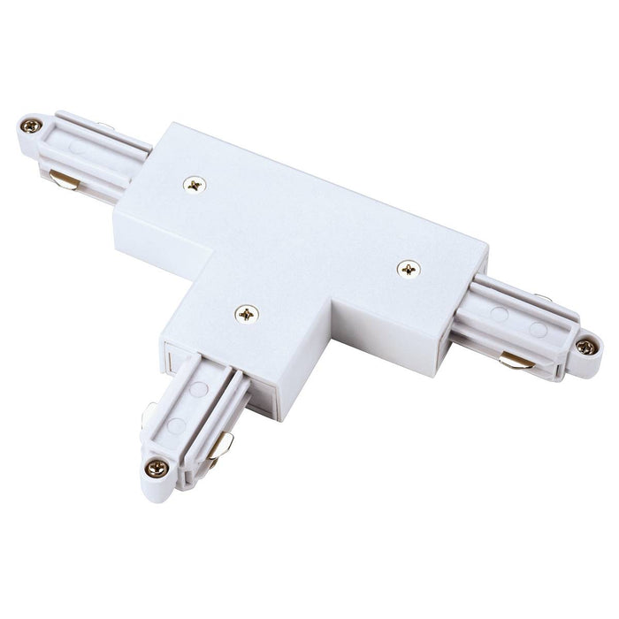 SLV SLV 143071 T-connector for 1-Circuit track, surface-mounted, white, earth left 4024163092920 143071