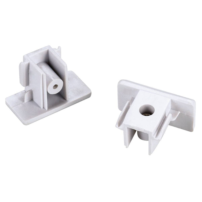 SLV SLV 143131 End caps for 1-Circuit track, surface-mounted version , white 4024163093040 143131