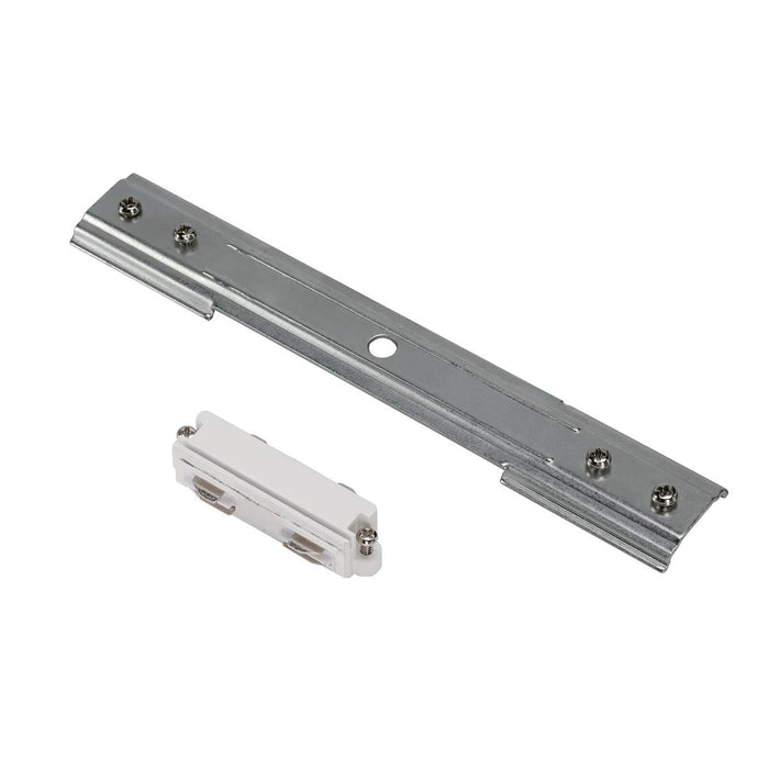 Stabilizing longitudinal connector, long, for 1-circuit track, nickel matt