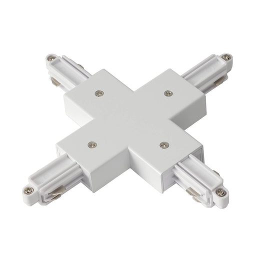 SLV SLV 143161 X-connector for 1-Circuit track, surface-mounted version , white 4024163142465 143161