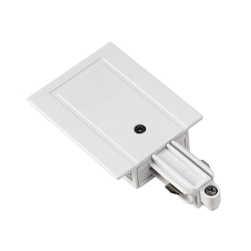 SLV SLV 143241 Feed-in for 1-Circuit track, recessed version, white, earth right 4024163127486 143241