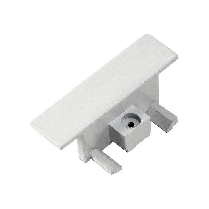 End caps for 1-circuit track, recessed version, white, 2 pcs.