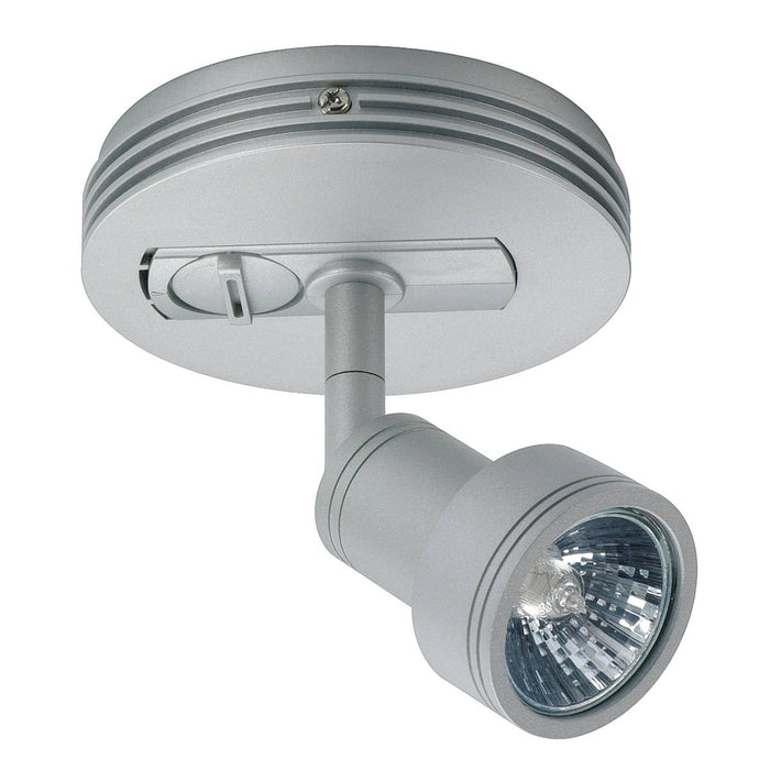 Ceiling canopy for 1-circuit adapter, silver-grey