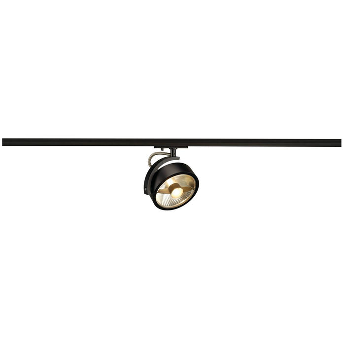 KALU TRACK ES111 lamp head, black, incl. 1-circuit adapter