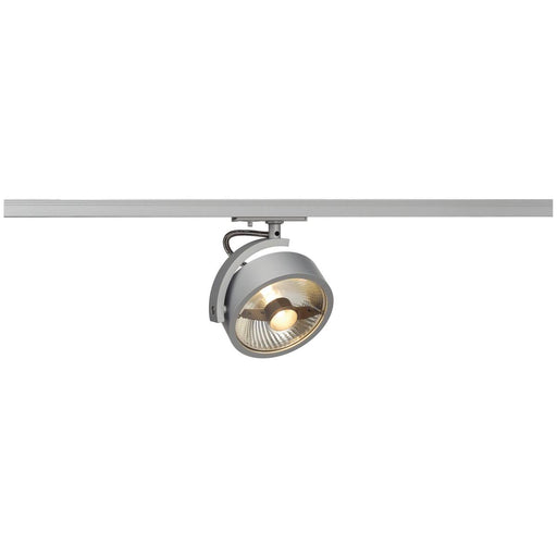KALU TRACK ES111 lamp head, silver-grey, incl. 1-circuit adapter