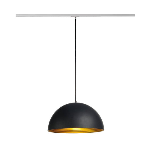 SLV SLV 143930 FORCHINI M pendant, 40cm, round, black/gold, E27, incl. silver 1-Circuit adapter 4024163137744 143930