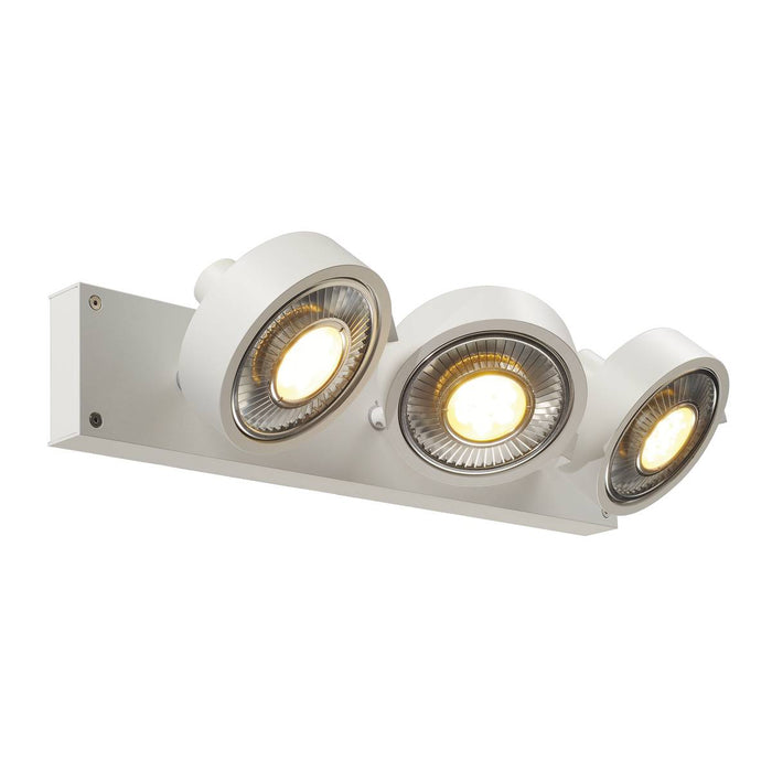 SLV SLV 147321 KALU 3  ceiling light, matt white, 3x ES111, max. 3x 75W 4024163142458 147321