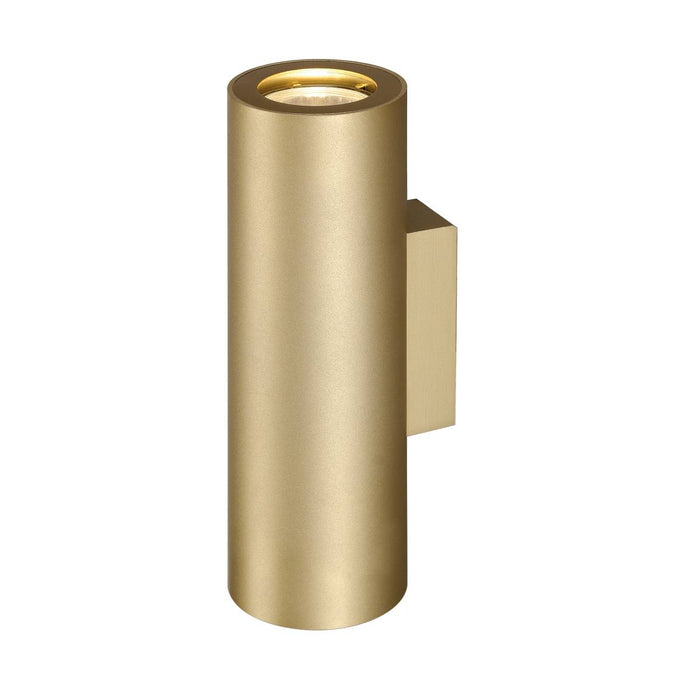 ENOLA_B UP/DOWN wall light, brass, 2x GU10, max. 2x 50W
