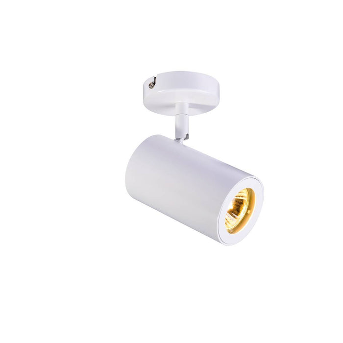 ENOLA_B wall and ceiling spot, single, white, GU10, max. 50W
