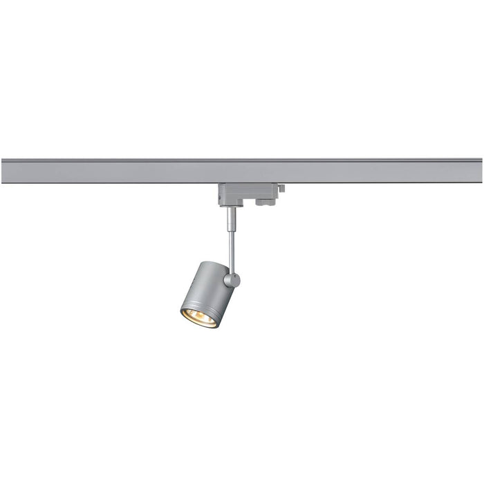 SLV SLV 152242 BIMA I lamp head, silver-grey, GU10, max. 50W, incl. 3- circuit adapter 4024163092180 152242