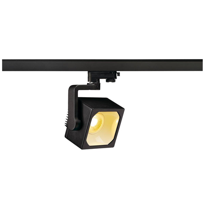 EURO CUBE SPOT, black, 60°, 3000K COB LED, CRI90, incl. 3-circuit adapter