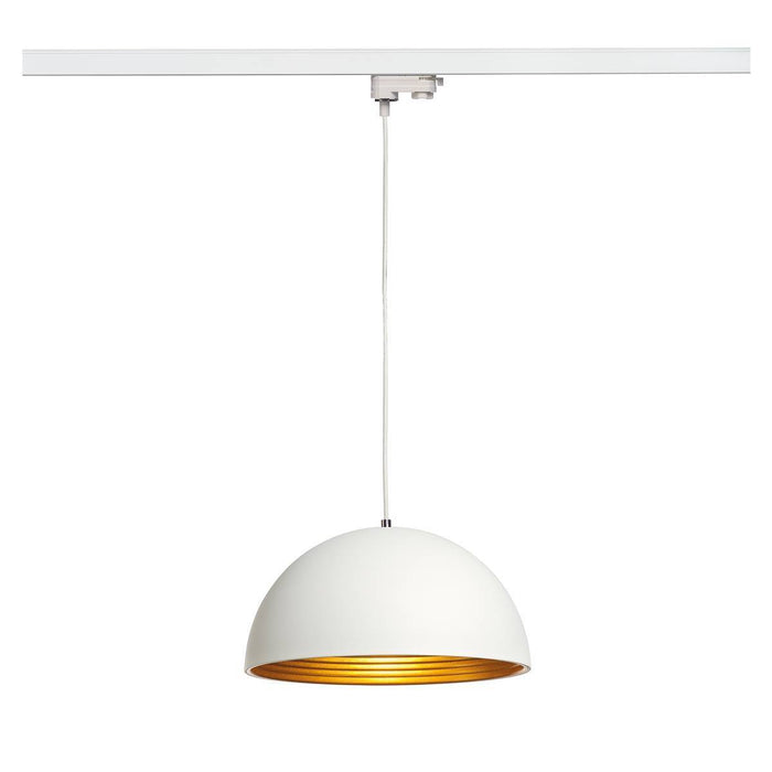 SLV SLV 153131 FORCHINI M pendant, 40cm, round, white/gold, E27, with white 3-Circuit adapter 4024163137973 153131