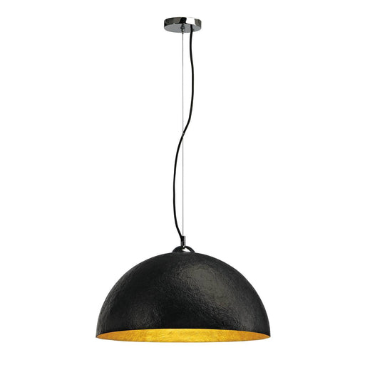 SLV SLV 155530 FORCHINI pendant, PD-1, round, black/gold, E27, max. 40W 4024163094382 155530