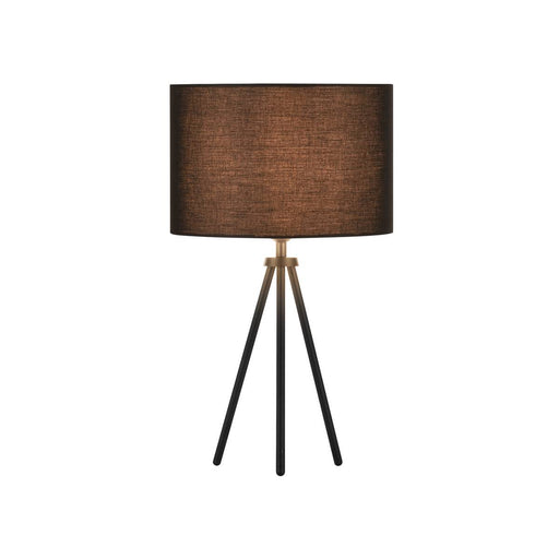 FENDA E27 table lamp base, matt black, without shade