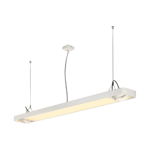 SLV SLV 159141 AIXLIGHT R2 OFFICE LED LONG, pendant, white, LED + 2xES111, max. 75W, 153cm 4024163164375 159141