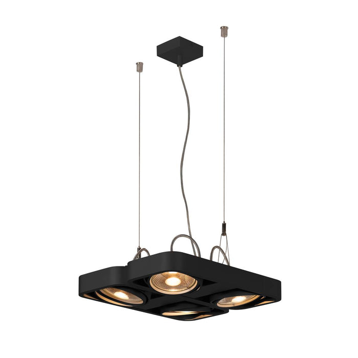 AIXLIGHT R2 SQUARE LED GU10, ES111, pendant, semicircular , black