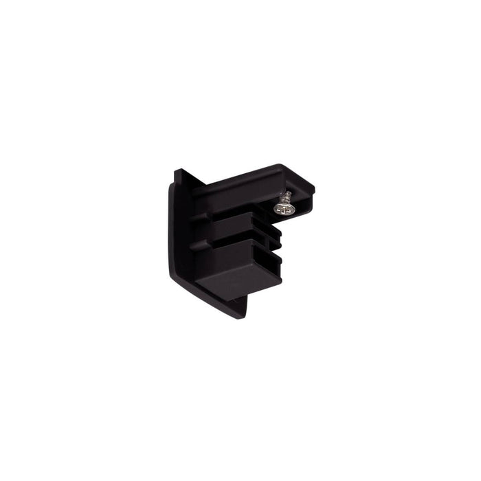 End cap for S-TRACK 3-phase track, black