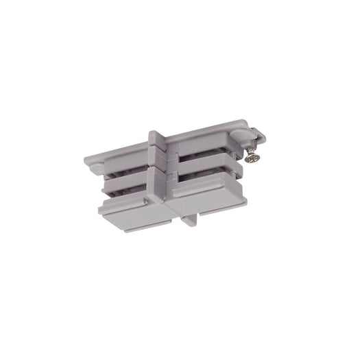Mini-connector for S-TRACK 3-phase track, insulated silver-grey