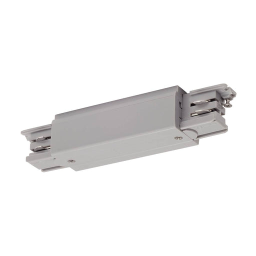 SLV SLV 175094 Long connector with feed-in possibility for S-TRACK 3-Circuit track, silver-grey 4024163161411 175094