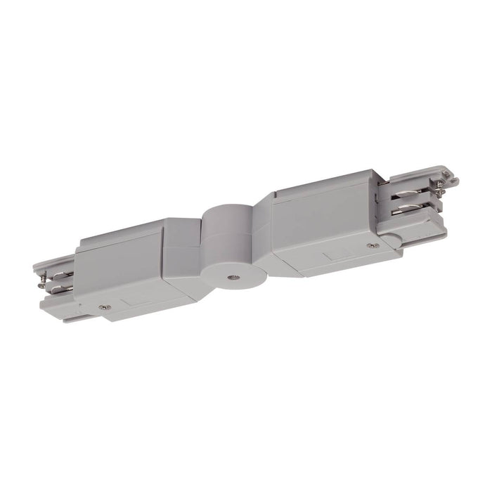 Flexible connector for S-TRACK 3-phase track, silver-grey