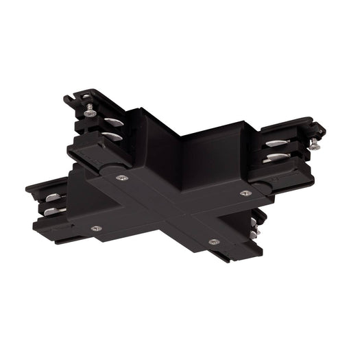 X-connector for S-TRACK 3-phase track, black