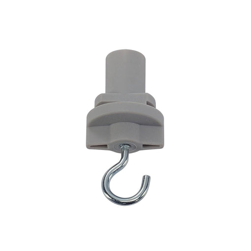 3-phase adapter with hook for S-TRACK 3-phase track, silver-grey