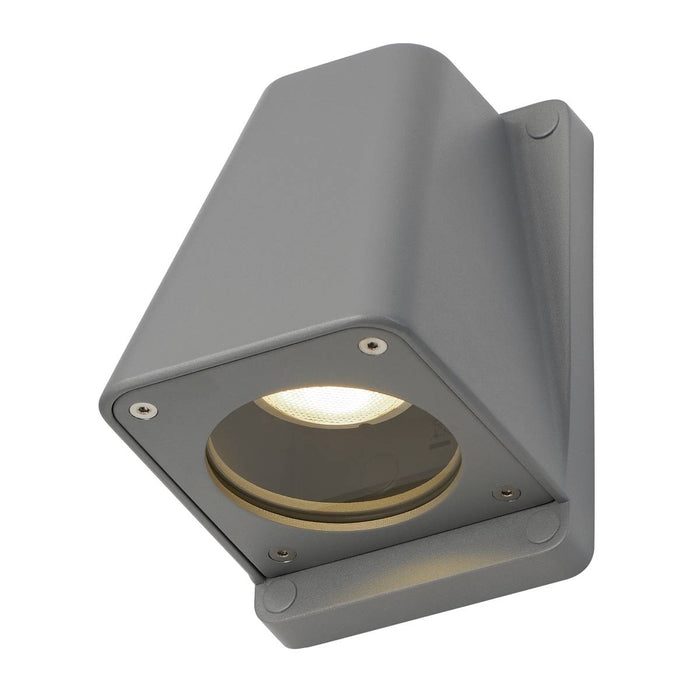 WALLYX GU10 wall light, silver-grey, max. 50W, IP44