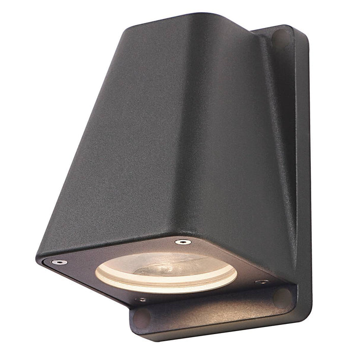 WALLYX GU10 wall light, anthracite, max. 50W, IP44