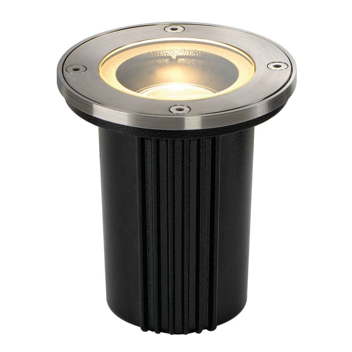 SLV SLV 228430 DASAR EXACT GU10 inground fitting, round, stainless steel 316, max. 35W, IP67 4024163124751 228430
