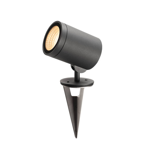 HELIA, outdoor pathway and floor stand, LED, 3000K, round, anthracite, 15W, can be converted to a spike luminaire