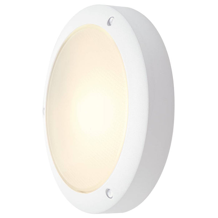 BULAN wall and ceiling light, round, white, E14, max. 60W, frosted glass