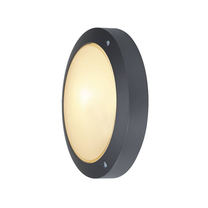 SLV SLV 229075 BULAN wall and ceiling light, round, anthracite, E14, max. 60W, frosted glass 4024163140188 229075