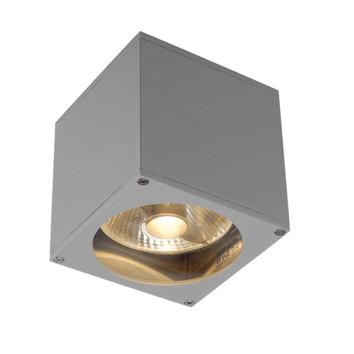 BIG THEO WALL OUT wall light, square, silver-grey, ES111, max. 75W