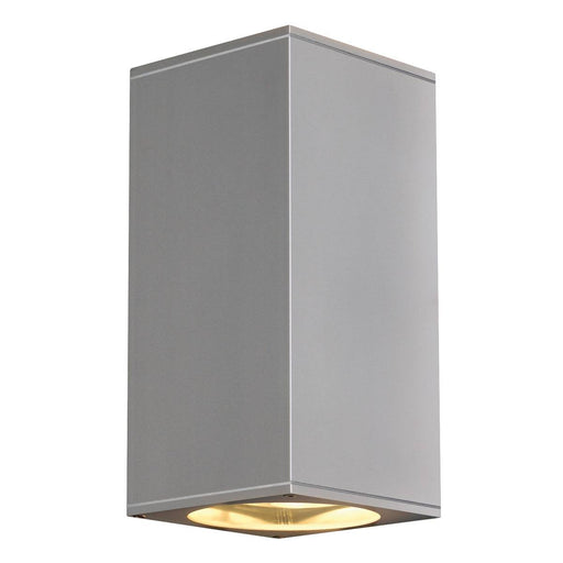 BIG THEO UP/DOWN OUT wall light , square, silver-grey, ES111, max. 2x75W