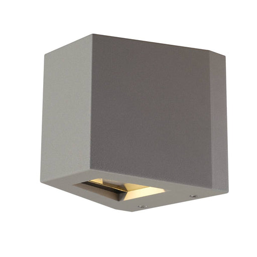 OUT BEAM LED wall light, beam up / flood down, silver-grey, IP44