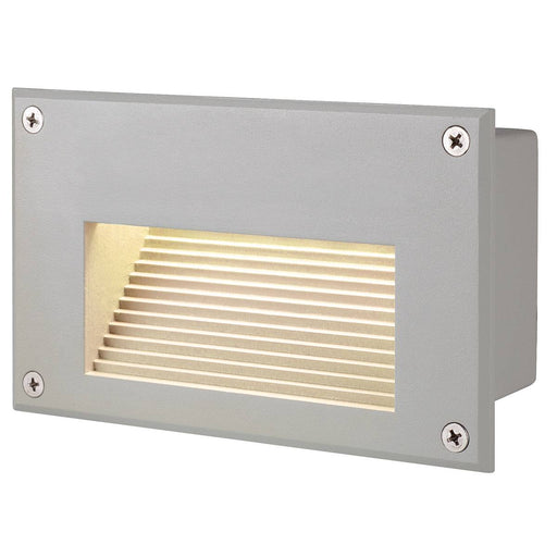 BRICK LED DOWNUNDER recessed wall light, rectangular, silver-grey, 3000K LED