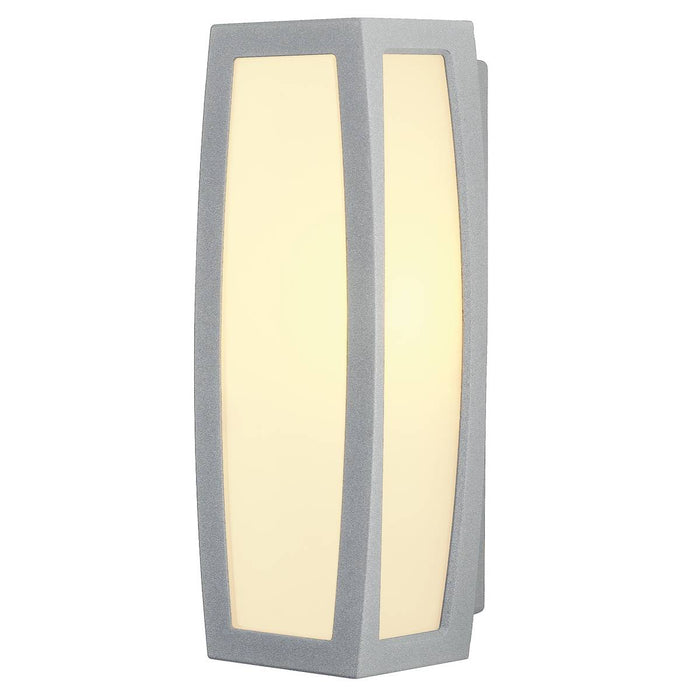 MERIDIAN BOX wall and ceiling light, silver-grey, E27, max. 25W
