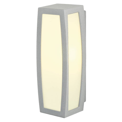 MERIDIAN BOX wall and ceiling light, silver-grey, E27, max. 20W, with motion sensor