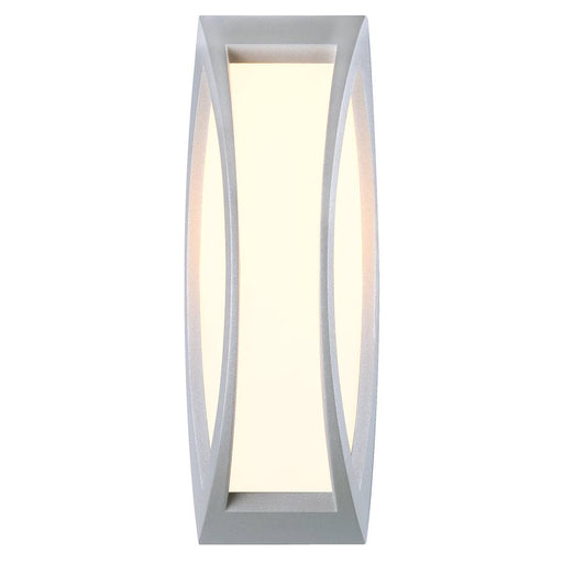 MERIDIAN 2 wall and ceiling light, silver-grey, E27 Energy Saver, max. 25W, IP54