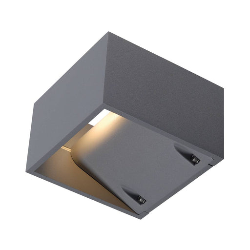 LOGS WALL LIGHT, square, silver-grey, 6W LED, 3000K, IP44