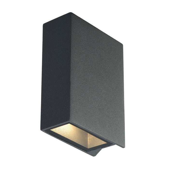 QUAD 2 wall light, square, anthracite, LED, 2x3W, 3000K, up-down, IP44