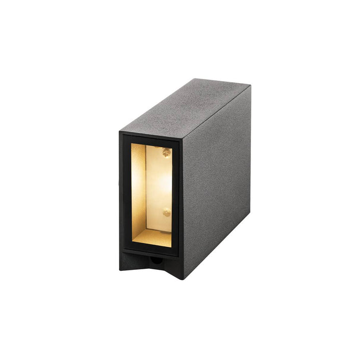 SLV 232475 QUAD 2 wall light, square, anthracite, LED, 2x3W, 3000K, up-down, IP44