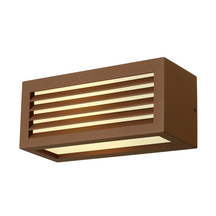 SLV SLV 232497 BOX-L E27 wall light, square, rust, E27, max. 18W, IP44 4024163129381 232497