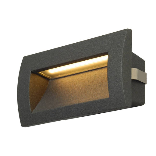 SLV SLV 233625 DOWNUNDER OUT LED M recessed wall light, anthracite, SMD LED 3000K, IP55 4024163148153 233625