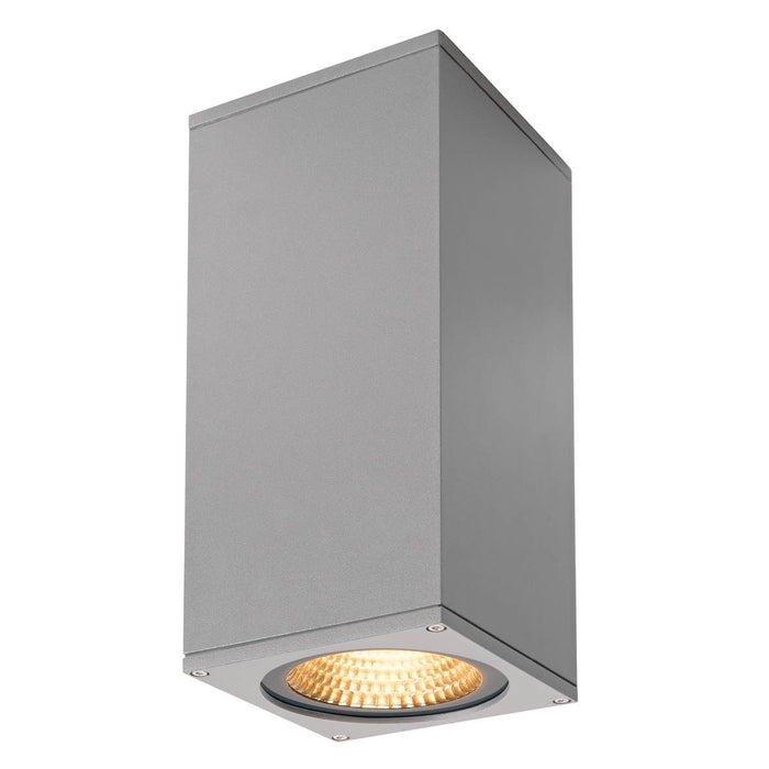 SLV SLV 234514 BIG THEO WALL, outdoor wall light, double-headed, LED, 3000K, Flood up/Beam down, silver-grey, W/H/D 13/29/13.5 cm 4024163175739 234514