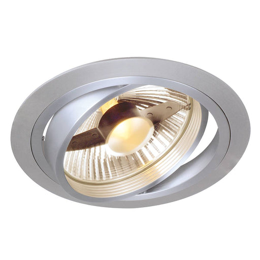 NEW TRIA ES111 downlight, round, alu brushed, GU10, max. 75W, incl. leaf springs