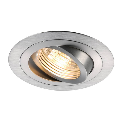 NEW TRIA GU10 ROUND downlight, alu brushed, max. 50W, incl. leaf springs