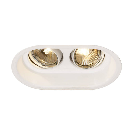 SLV SLV 113111 HORN 2 TURNO GU10 recessed ceiling light, oval, matt white, max. 2x50W 4024163131667 113111