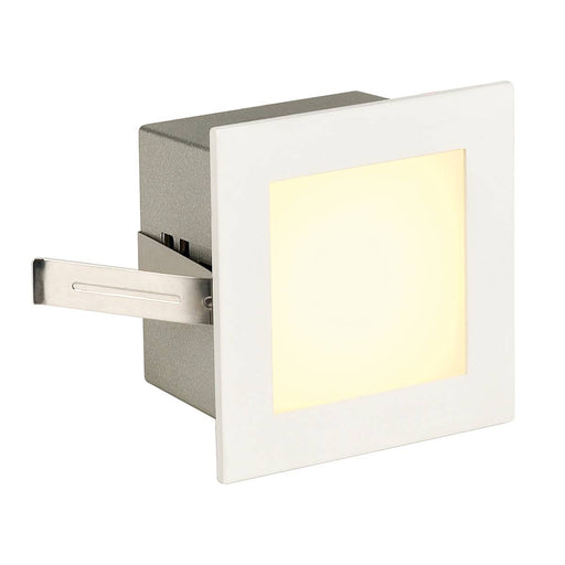 SLV SLV 113262 FRAME BASIC LED recessed light , square, matt white, warm white LED 4024163138109 113262